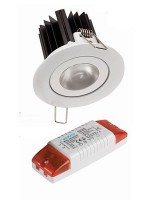 EcoLume 9W LED downlight with dimmable driver