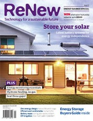 ReNew 141 cover: Store your solar